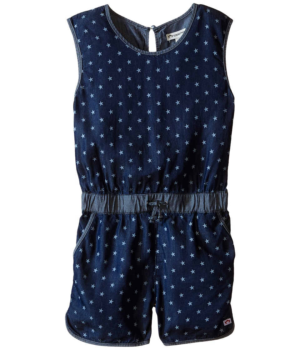 Appaman Kids - Soft Kennedy Chambray Romper with Bleached Star Design (Toddler/Little Kids/Big Kids) (Blue Depths) Girl's Jumpsuit & Rompers One Piece