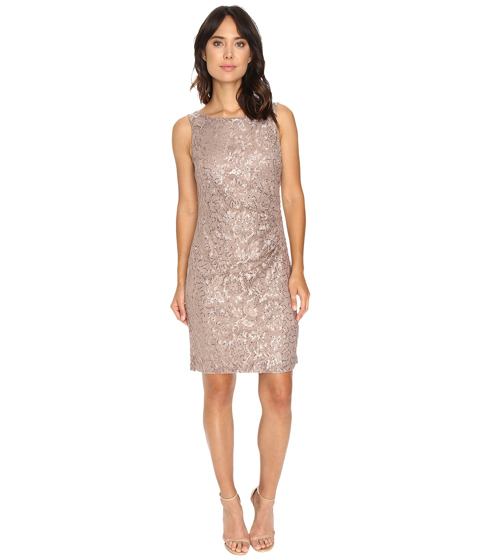 rsvp - Patricia Rouched Dress (Taupe) Women's Dress