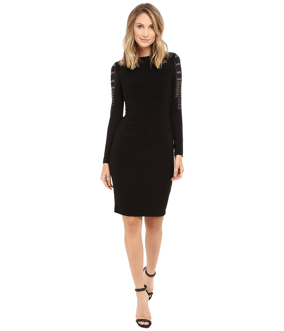 rsvp - Riana Beaded Arm Dress (Black) Women's Dress