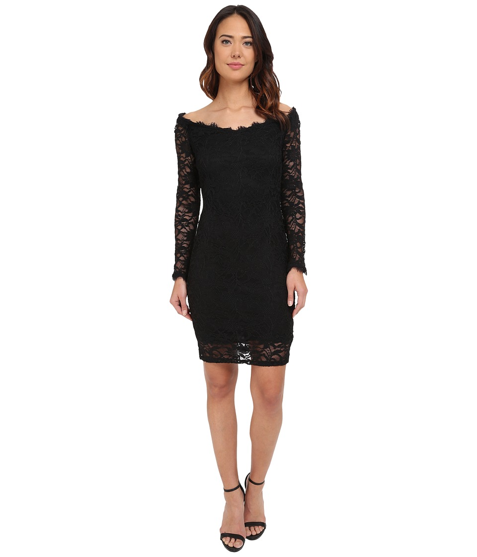 rsvp - Cameron Off the Shoulder Dress (Black) Women's Dress