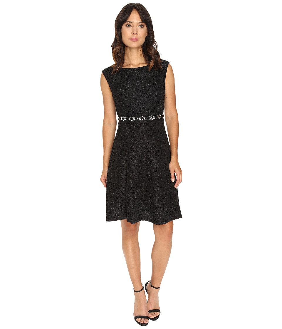 rsvp - Sharon Fit and Flare Dress (Black) Women's Dress