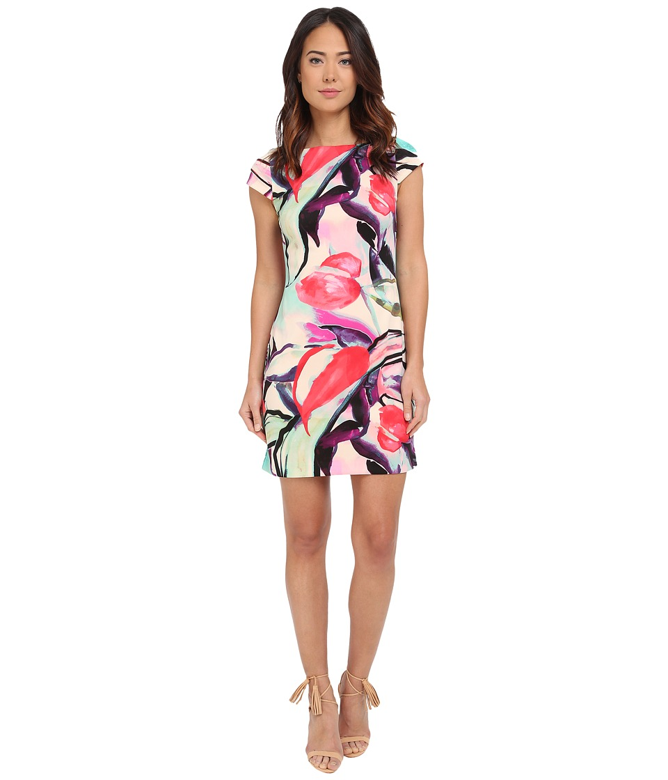 Vince Camuto - Cap Sleeve Shift Dress (Print) Women's Dress
