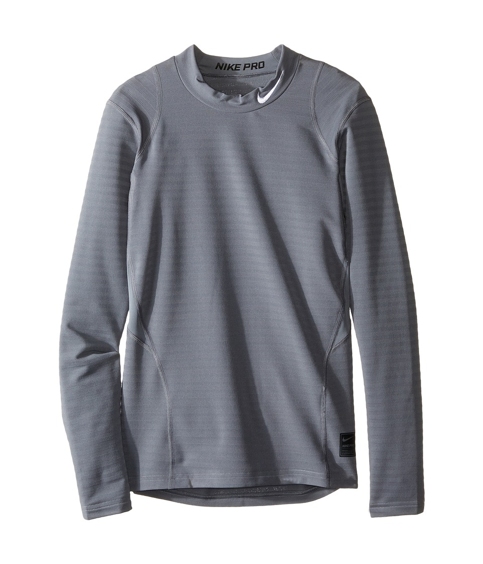 Nike Kids - Long Sleeve Mock Top (Little Kids/Big Kids) (Cool Grey/Black/White) Boy's Clothing