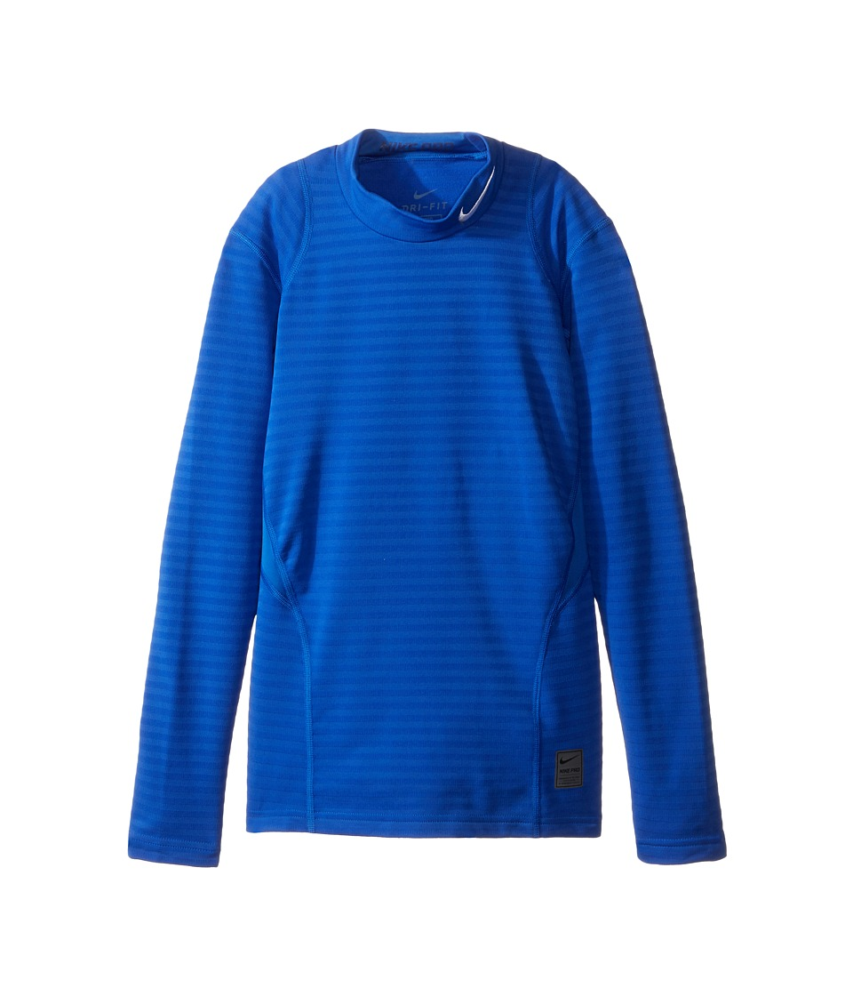 Nike Kids - Long Sleeve Mock Top (Little Kids/Big Kids) (Game Royal/Deep Royal Blue/White) Boy's Clothing