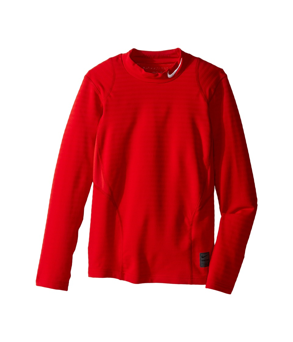 Nike Kids - Long Sleeve Mock Top (Little Kids/Big Kids) (University Red/Gym Red/White) Boy's Clothing