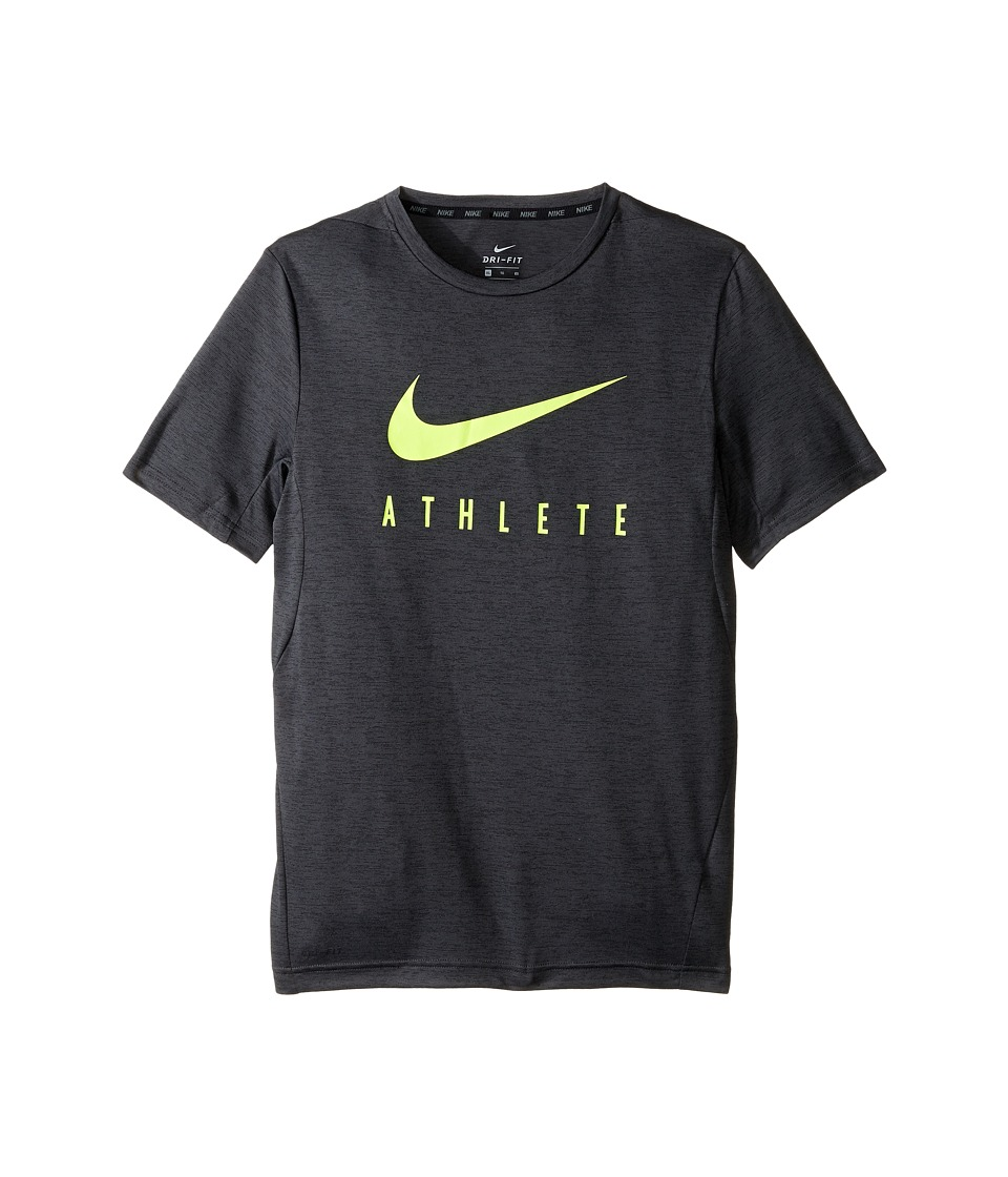 Nike Kids - Short Sleeve Training Top (Little Kids/Big Kids) (Black) Boy's Clothing