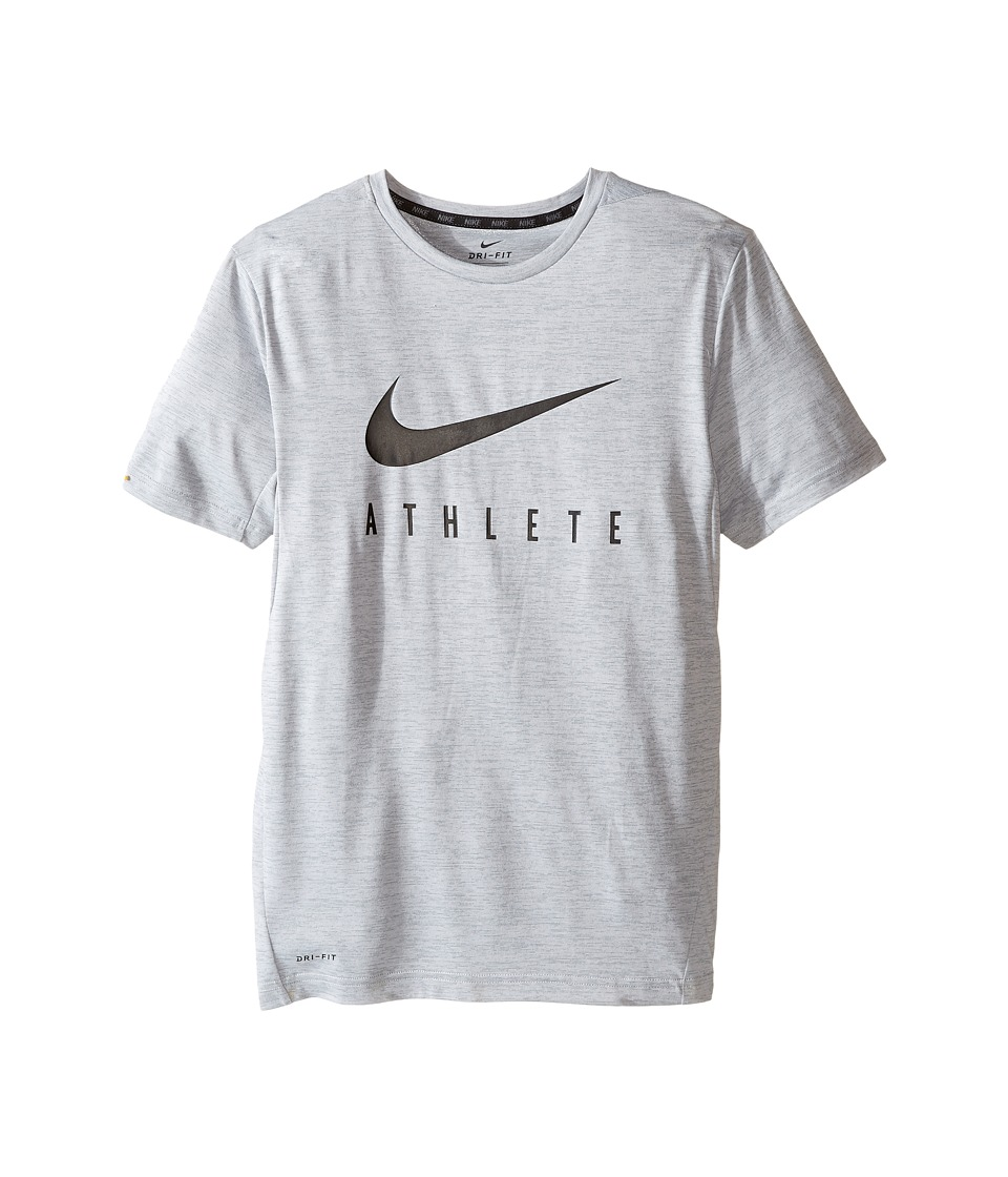 Nike Kids - Short Sleeve Training Top (Little Kids/Big Kids) (Cool Grey) Boy's Clothing
