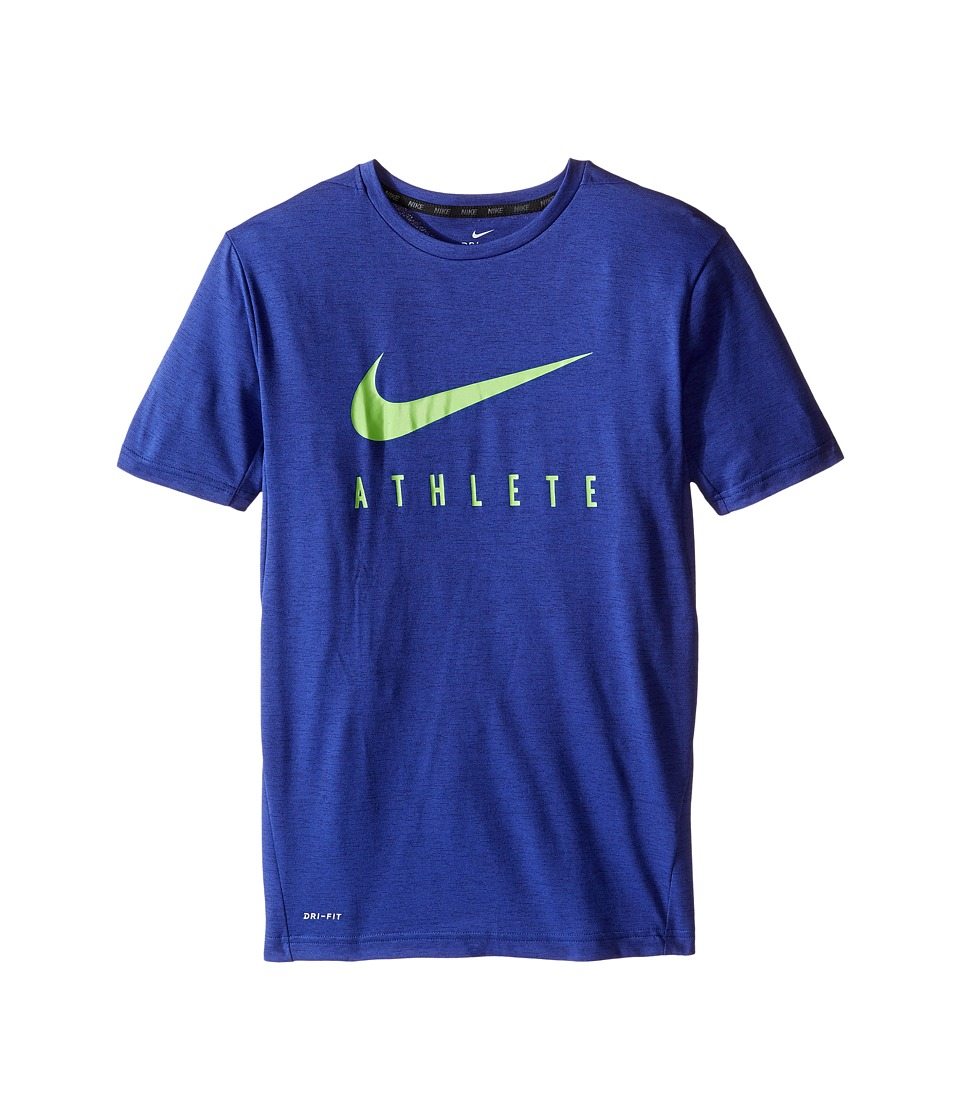 Nike Kids - Short Sleeve Training Top (Little Kids/Big Kids) (Obsidian) Boy's Clothing