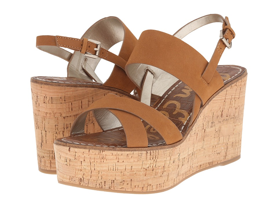Sam Edelman - Destiny (Golden Caramel Wayne Nubuck Leather) Women's Wedge Shoes