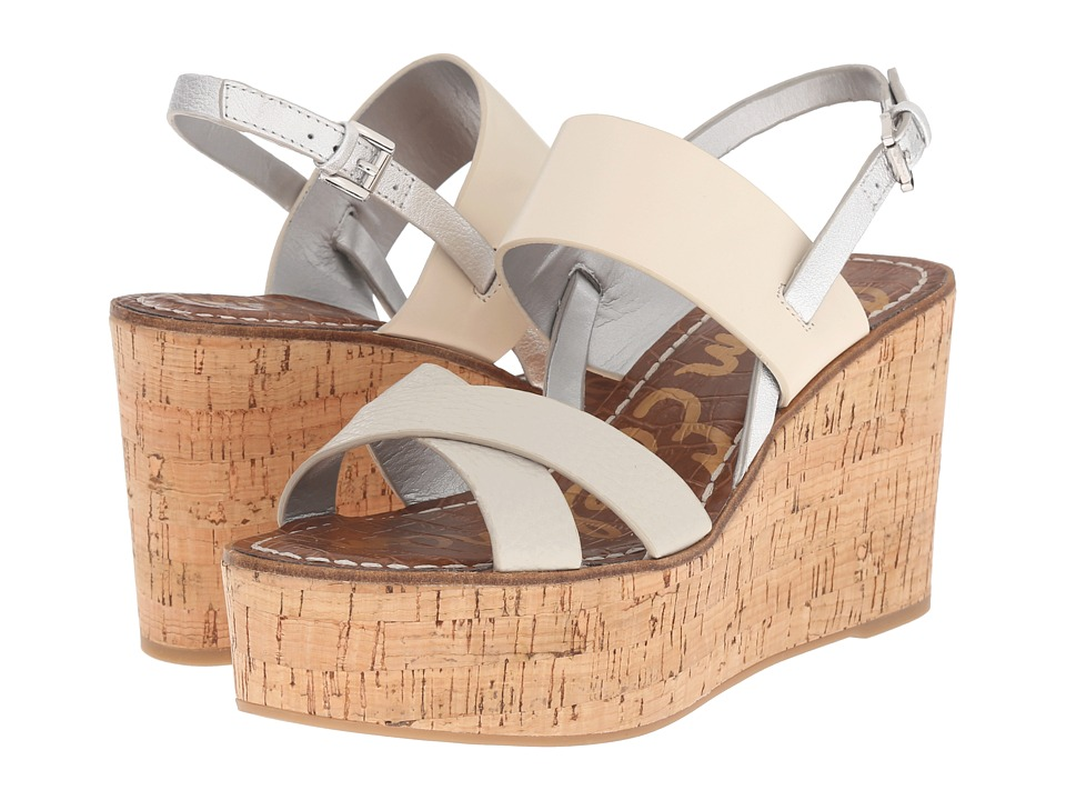 Sam Edelman - Destiny (Greige/Modern Ivory New Tumbled Leather/Vaquero Saddle Leather) Women's Wedge Shoes