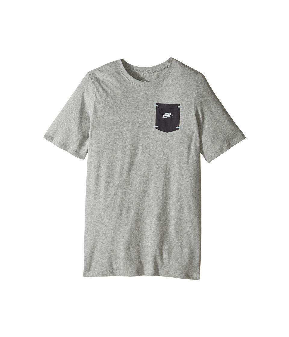 Nike Kids - Training T-Shirt (Little Kids/Big Kids) (Dark Grey Heather) Boy's Clothing