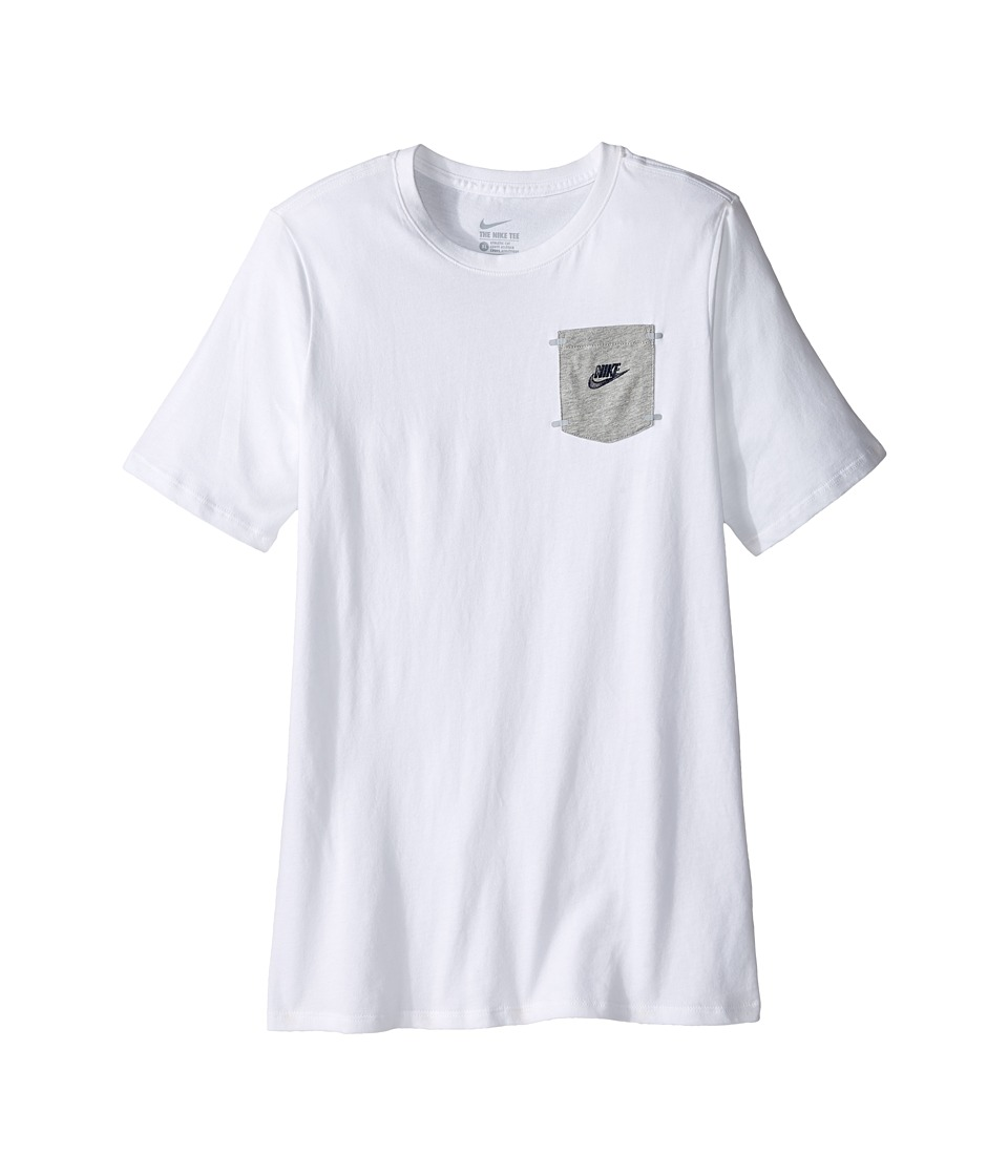 Nike Kids - Training T-Shirt (Little Kids/Big Kids) (White) Boy's Clothing