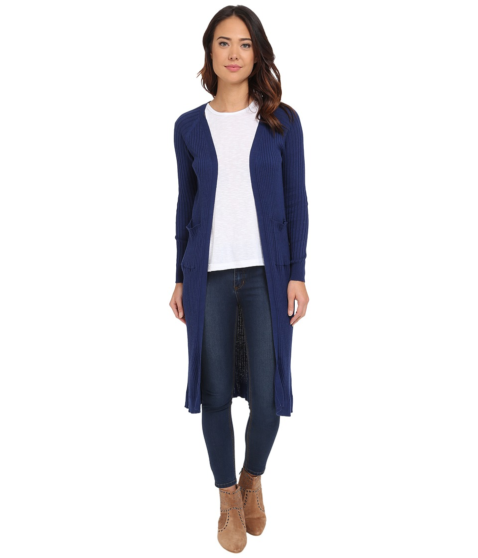 Brigitte Bailey - Adelino Thin Ribbed Duster (Navy) Women's Sweater