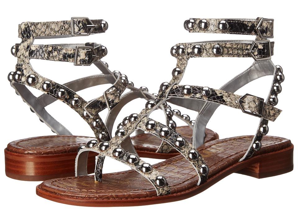Sam Edelman - Eavan (Putty Shiny Burmese Python Print Leather) Women's Sandals