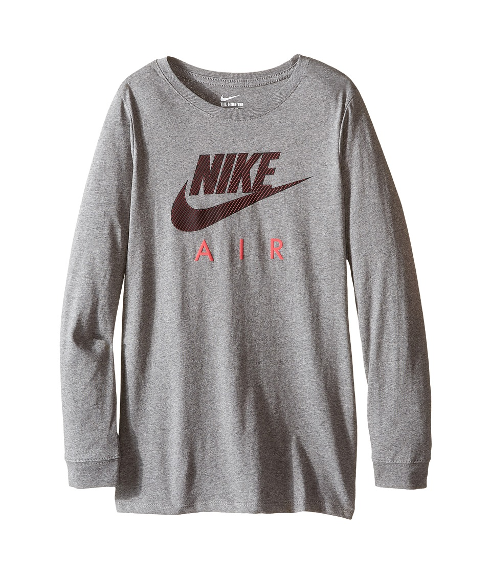 Nike Kids - Cotton Long Sleeve Air TD (Little Kids/Big Kids) (Carbon Heather) Boy's Clothing