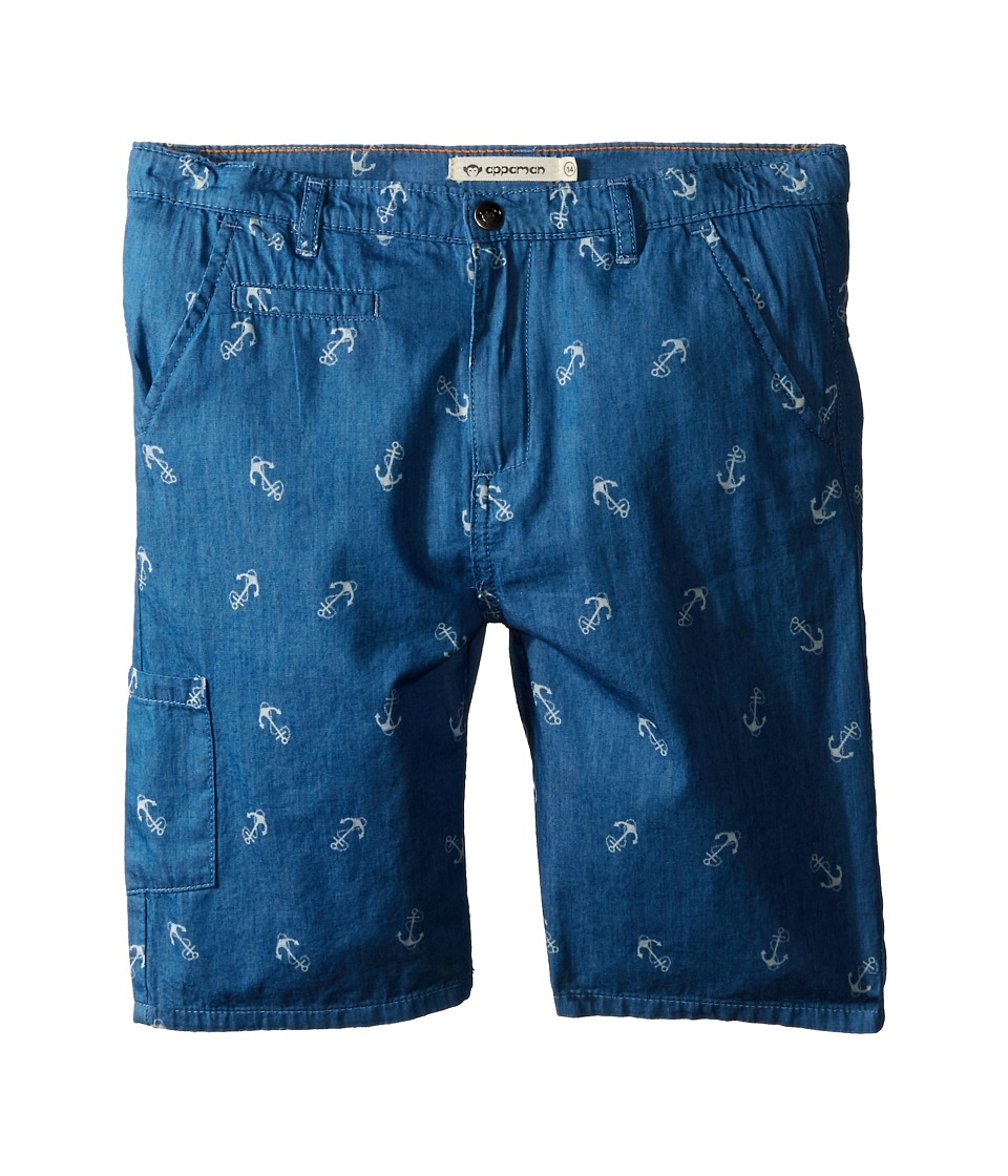 Appaman Kids - Classic Soft Cotton Seaside Shorts (Toddler/Little Kids/Big Kids) (Blue Novelty) Boy's Shorts
