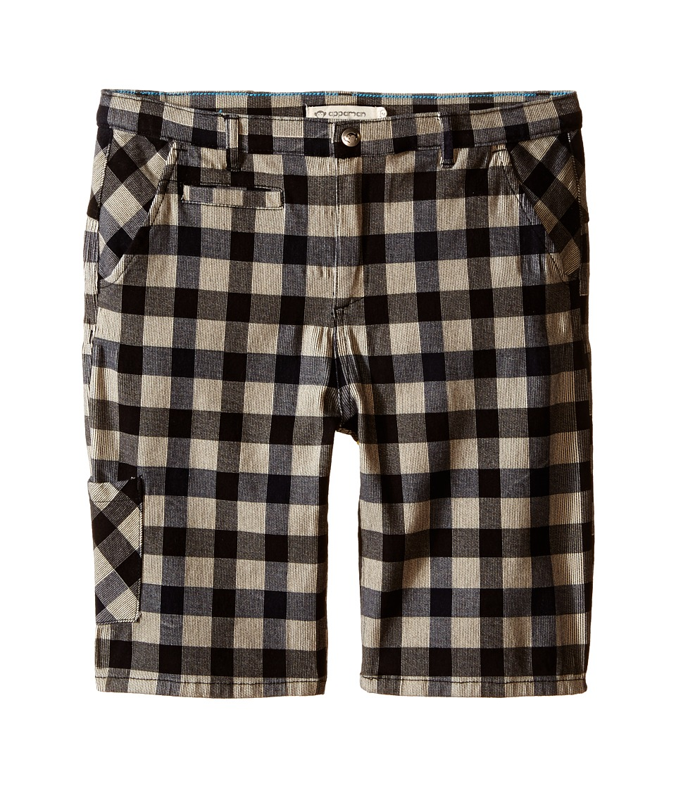 Appaman Kids - Classic Soft Cotton Seaside Shorts (Toddler/Little Kids/Big Kids) (Eclipse Check) Boy's Shorts