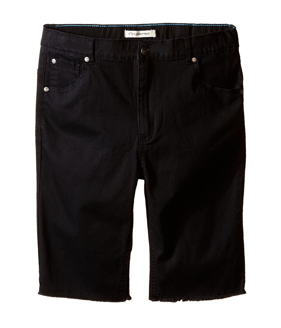 Appaman Kids - Super Soft Raw Edge Punk Shorts (Toddler/Little Kids/Big Kids) (Black) Boy's Shorts