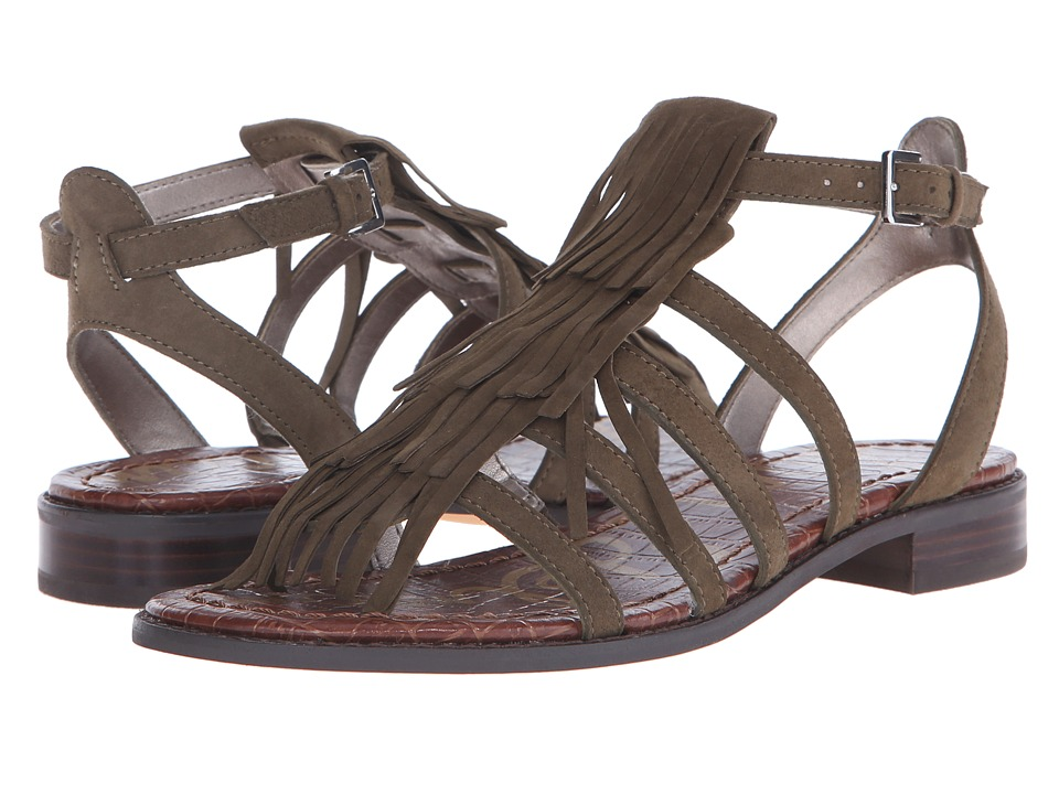 Sam Edelman - Estelle (Moss Green Kid Suede Leather) Women's Sandals