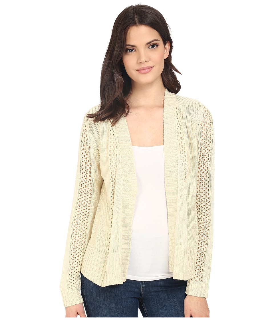 Brigitte Bailey - Fringe Back Open Cardigan (Winter White) Women's Sweater
