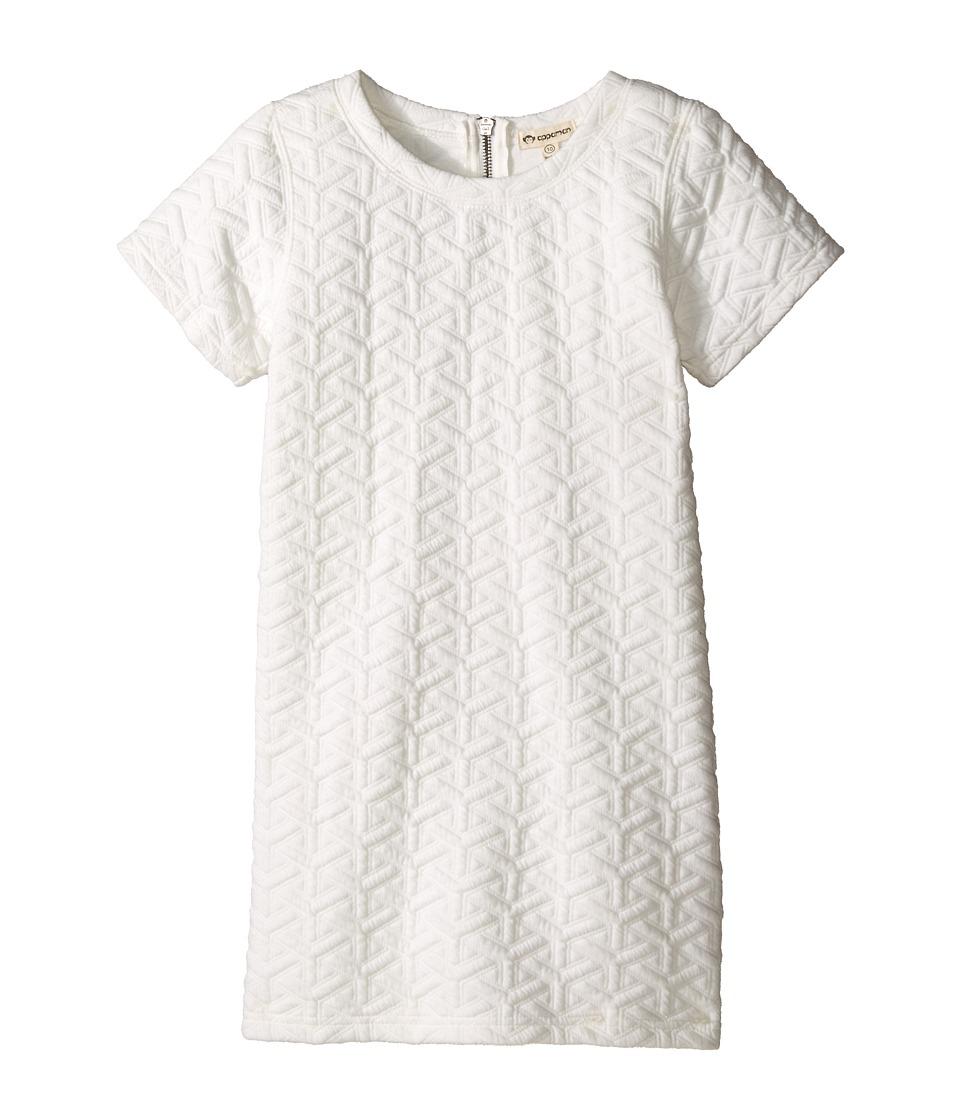 Appaman Kids - Ultra Soft Sierra Short Sleeve Mod Shift Dress (Toddler/Little Kids/Big Kids) (Cloud Dancer) Girl's Dress