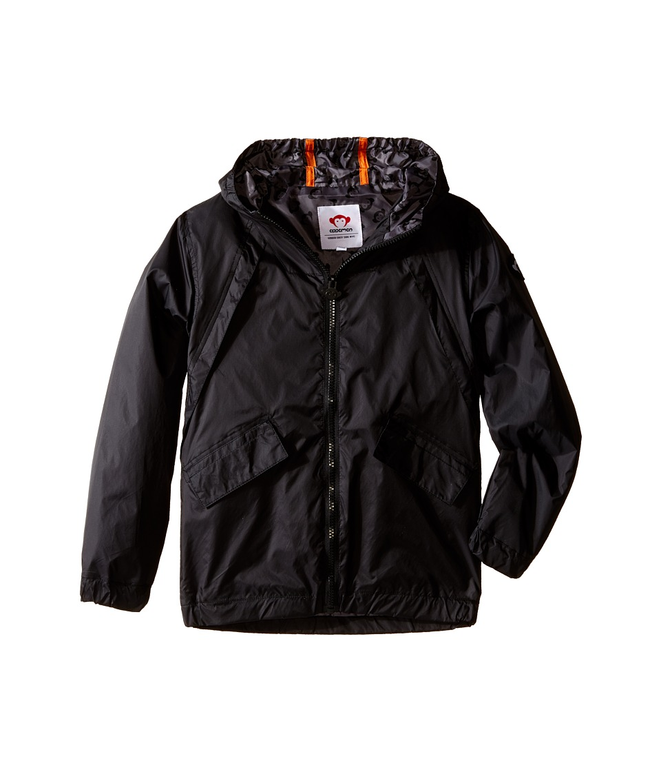 Appaman Kids - Expedition Windbreaker with Contrast Lining and Hood (Toddler/Little Kids/Big Kids) (Black) Boy's Coat