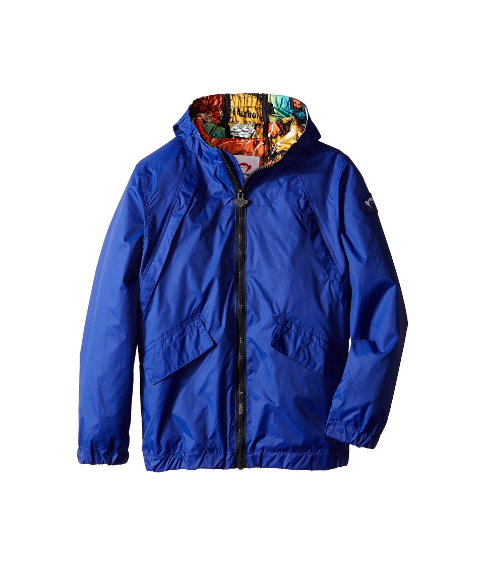 Appaman Kids - Expedition Windbreaker with Contrast Lining and Hood (Toddler/Little Kids/Big Kids) (Surf the Web) Boy's Coat