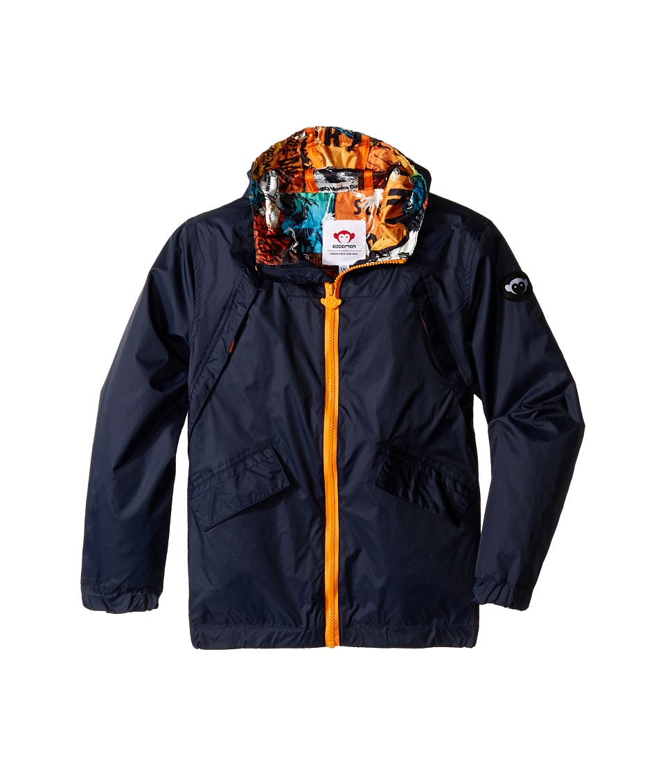 Appaman Kids - Expedition Windbreaker with Contrast Lining and Hood (Toddler/Little Kids/Big Kids) (Total Eclipse) Boy's Coat