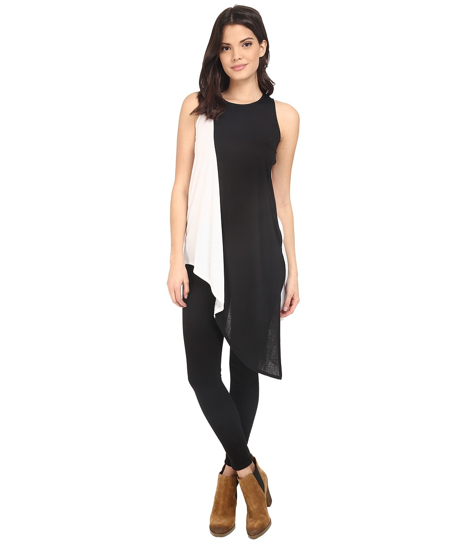 Brigitte Bailey - Color Block Tunic (Black/White) Women's Blouse
