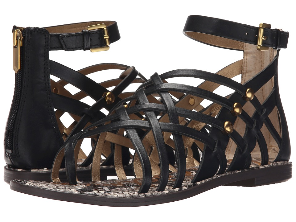 Sam Edelman - Gardener (Black Vaquero Saddle Leather) Women's Sandals