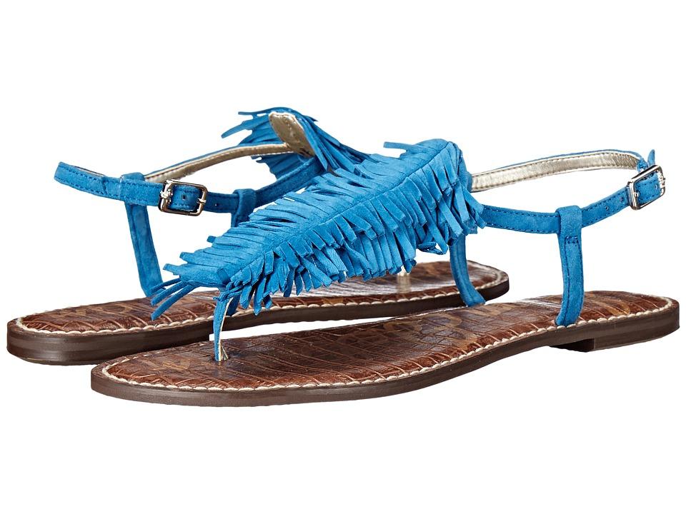 Sam Edelman - Gela (Malibu Blue Kid Suede Leather) Women