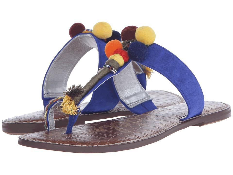 Sam Edelman - Gemina (Sailor Blue Kid Suede Leather) Women's Sandals