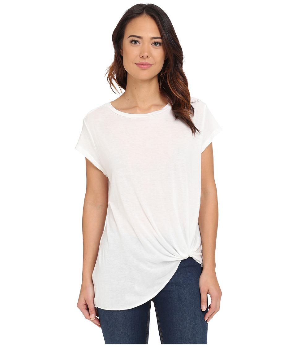 Brigitte Bailey - Knot Front T-Shirt (White) Women's T Shirt