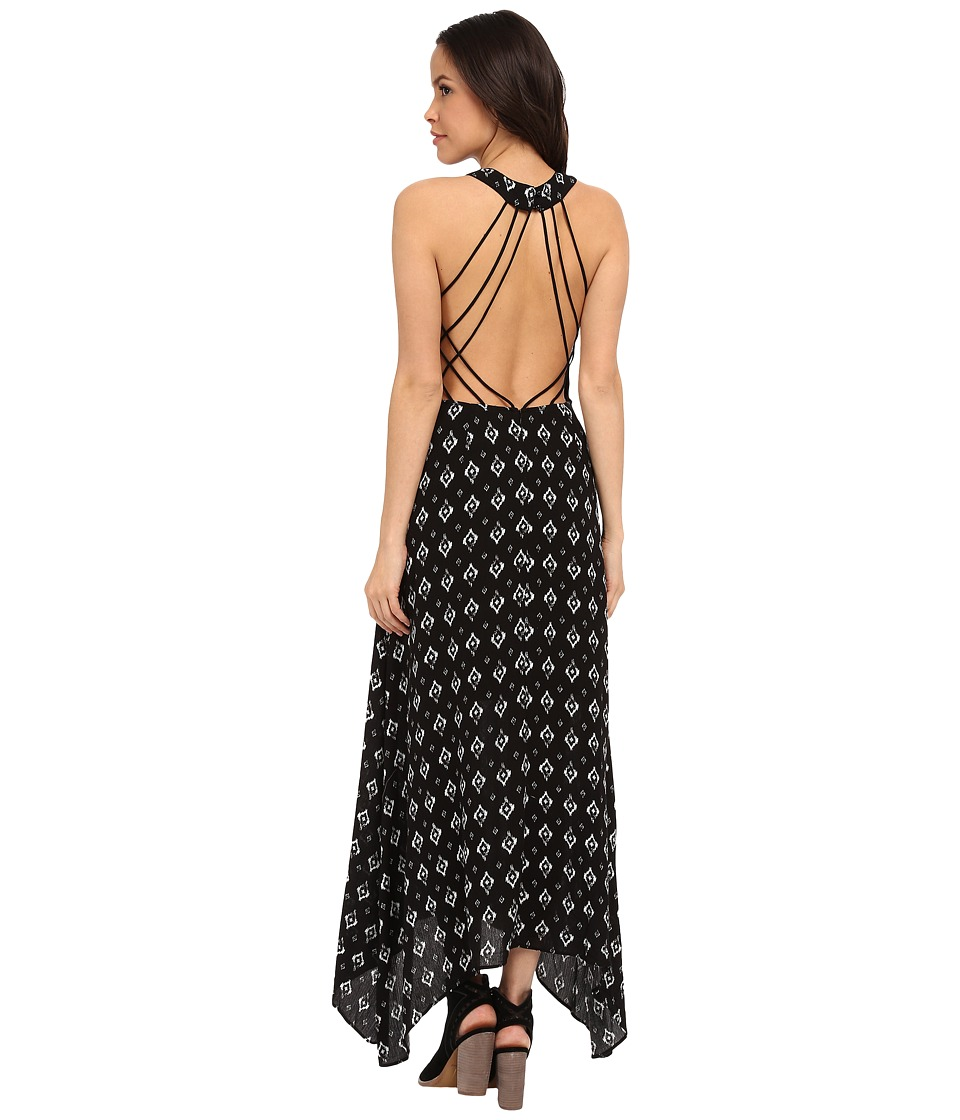 Brigitte Bailey - Francessca Tribal Print Maxi (Black Multi) Women's Clothing