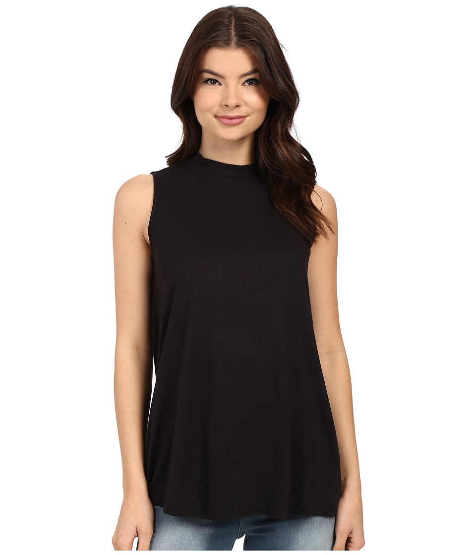 Brigitte Bailey - Luther Mock Neck Sleeveless Top (Black) Women's Sleeveless