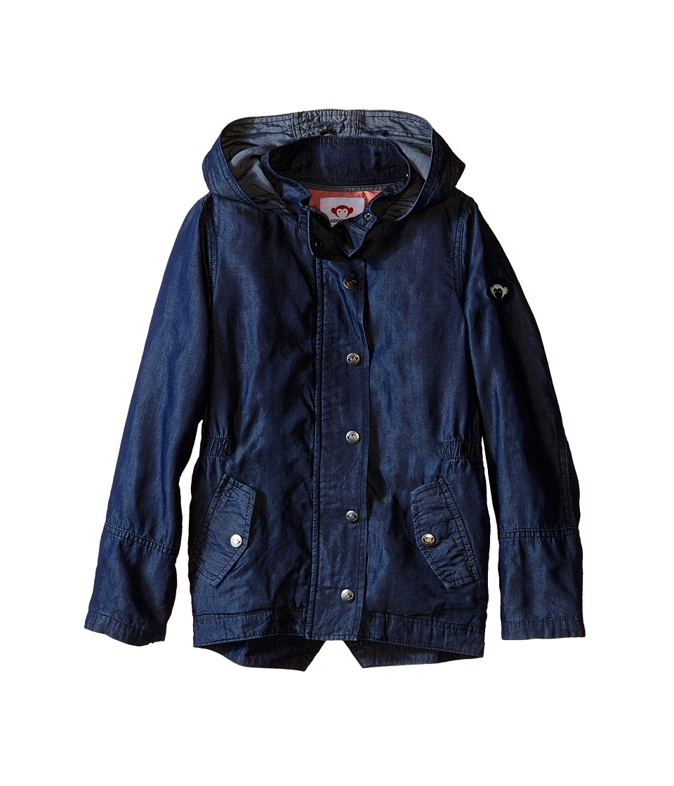 Appaman Kids - Super Soft Denim and Lined Hooded Decker Jacket (Toddler/Little Kids/Big Kids) (Blue Depths) Girl's Coat
