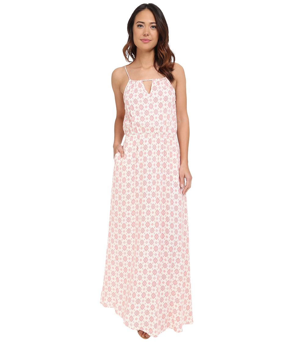 Brigitte Bailey - Suri Printed Maxi (Coral) Women's Clothing