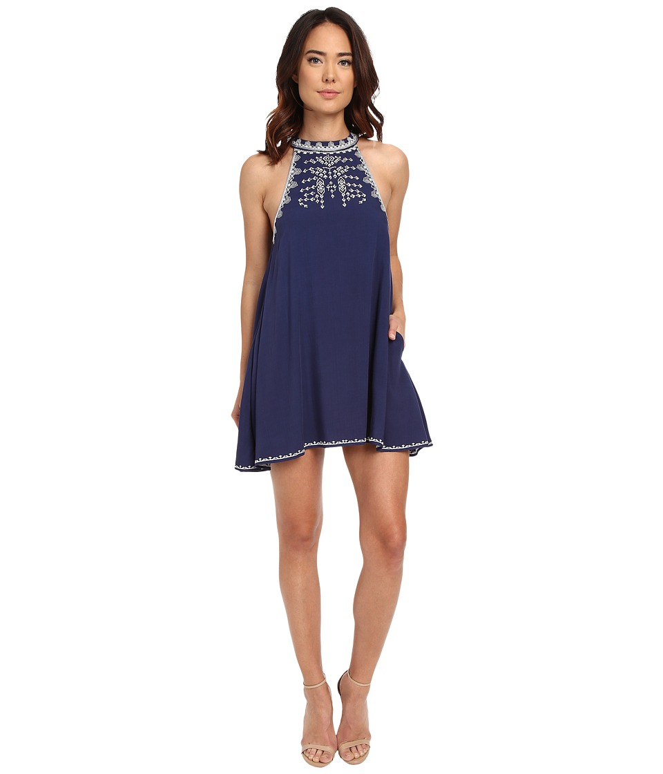 Brigitte Bailey - Precious Embroidered Shift Dress (Navy) Women's Dress