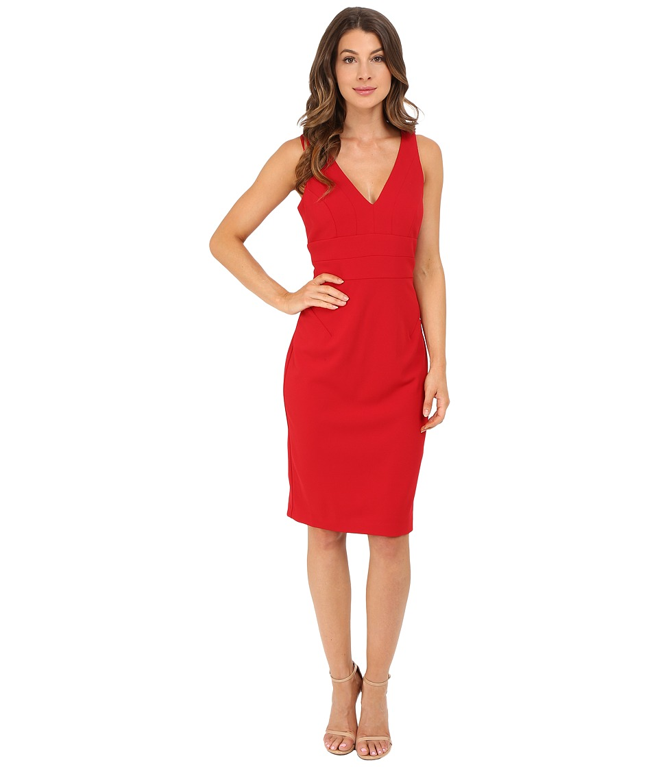 Christin Michaels - Valentine Lace Back Dress (Cherry) Women's Dress