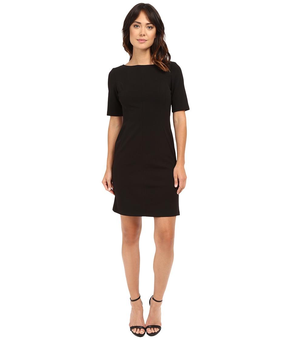 Christin Michaels Becca Crepe Pocket Dress (Black) Women