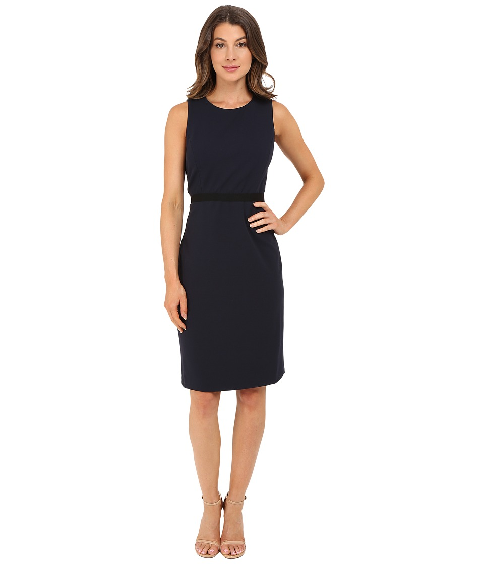 Christin Michaels - Pam Crepe Chiffon Dress (Navy) Women's Dress