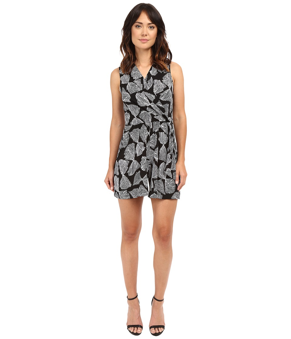 Christin Michaels - Dom Printed Romper (Black/White) Women's Jumpsuit & Rompers One Piece