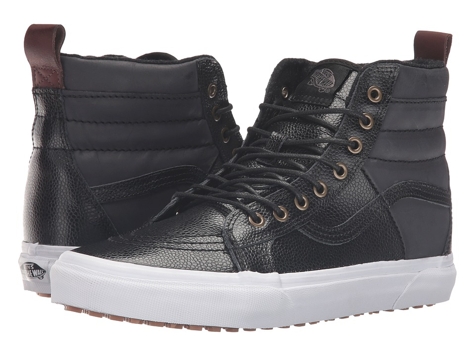 Vans - SK8-Hi 46 MTE ((Pebble Leather) Black) Skate Shoes
