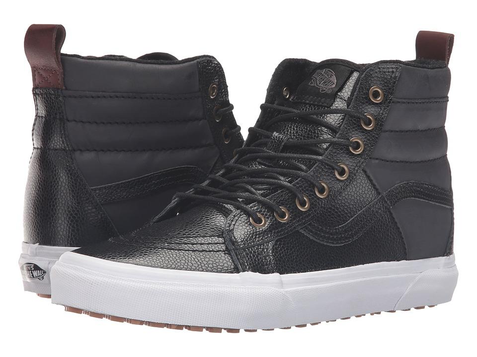 Vans - SK8-Hi 46 MTE ((Pebble Leather) Black) Skate Shoes