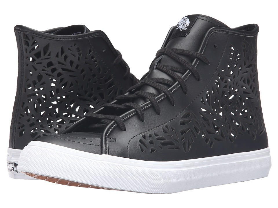 Vans - SK8-Hi Decon ((Cut-Out) Leaves/Black) Skate Shoes