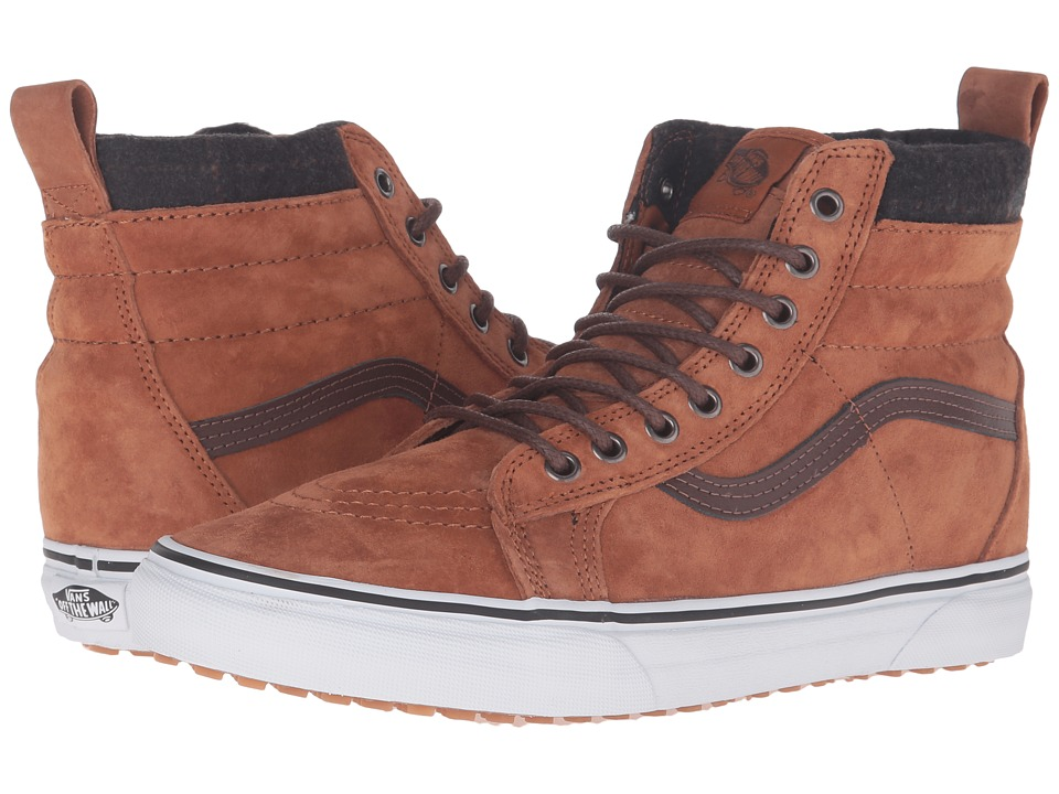 Vans - SK8-Hi MTE ((MTE) Glazed Ginger/Plaid) Skate Shoes