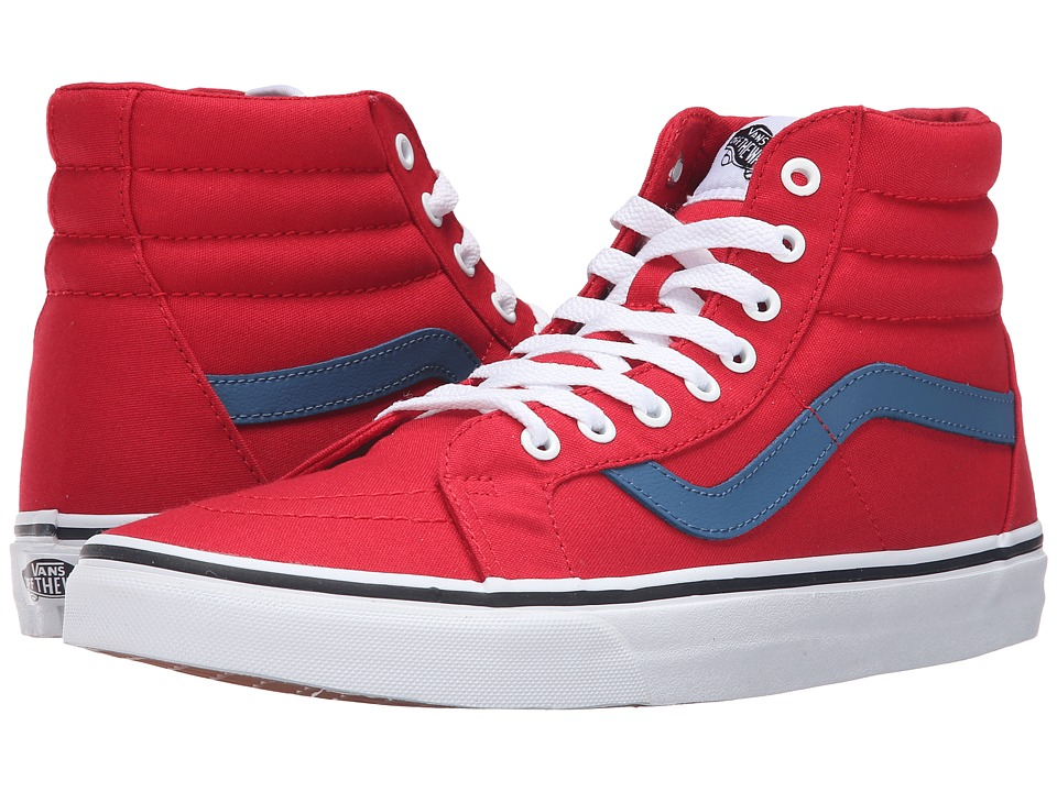 Vans - SK8-Hi Reissue ((Canvas) Racing Red/Blue Ashes) Skate Shoes