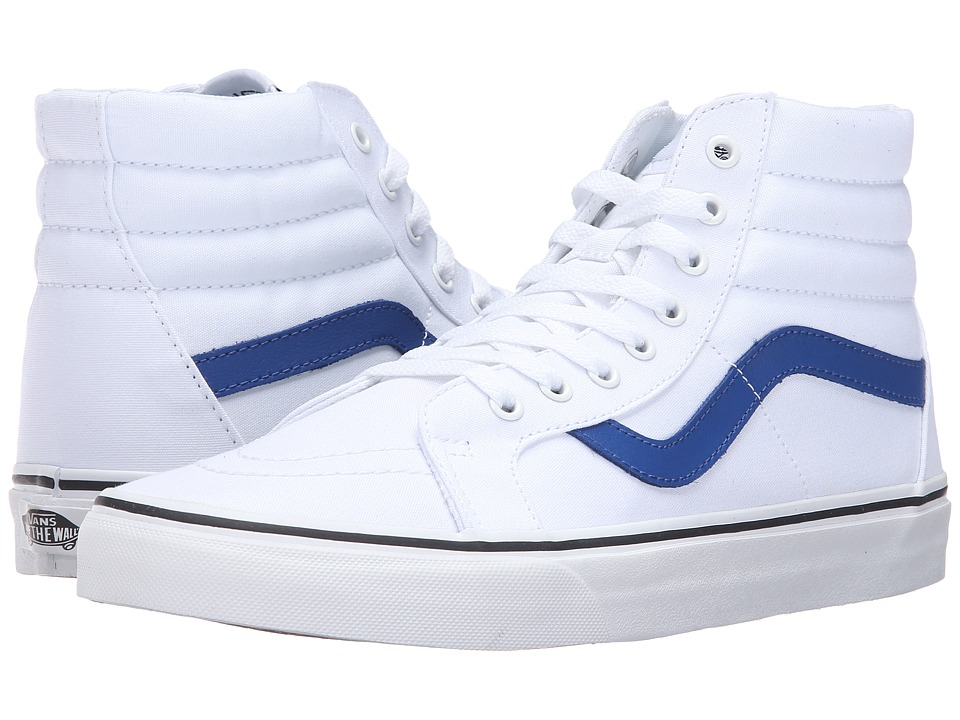 Vans - SK8-Hi Reissue ((Canvas) True White/True Blue) Skate Shoes