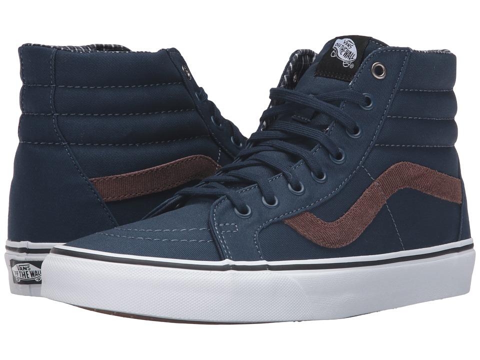 Vans - SK8-Hi Reissue ((Cord & Plaid) Dress Blues/True White) Skate Shoes