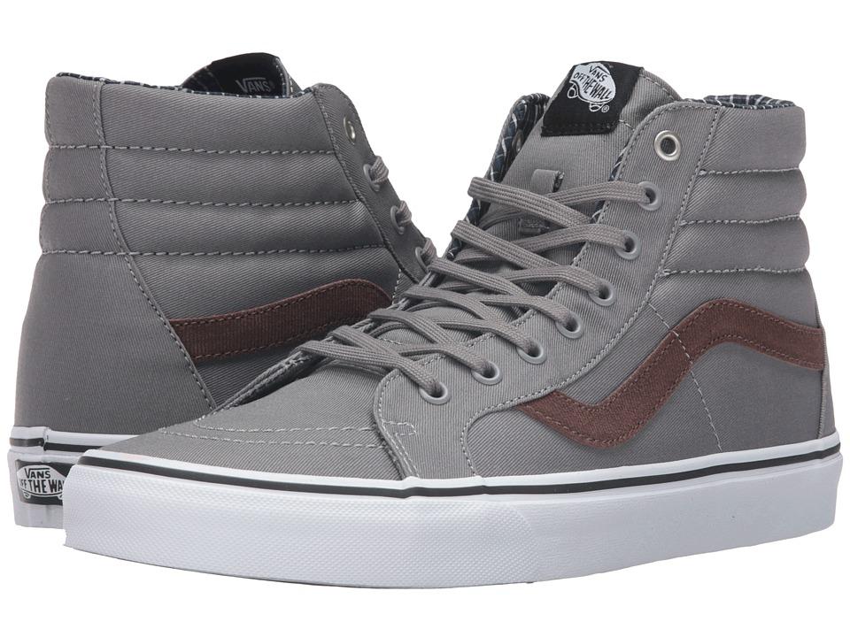 Vans - SK8-Hi Reissue ((Cord & Plaid) Frost Gray/True White) Skate Shoes